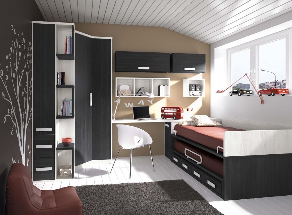 Dormitorios juveniles con camas modulares muebles niso - Habitaciones modulares juveniles ...